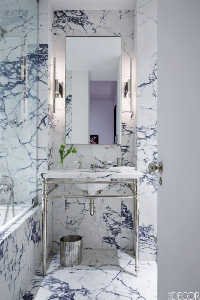The Violet Marble Bathroom
