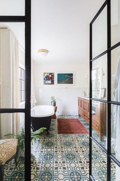 Patterned Bathroom