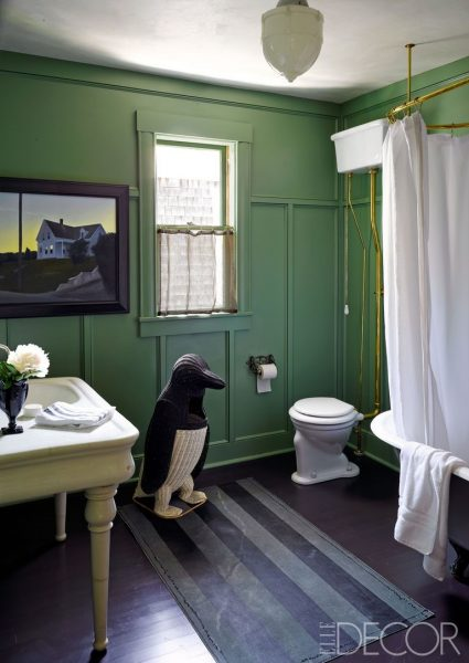The Charming Green Bathroom