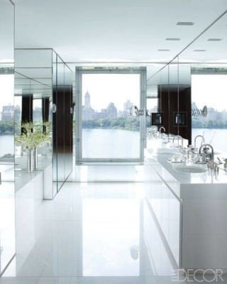 The Mirrored Bathroom