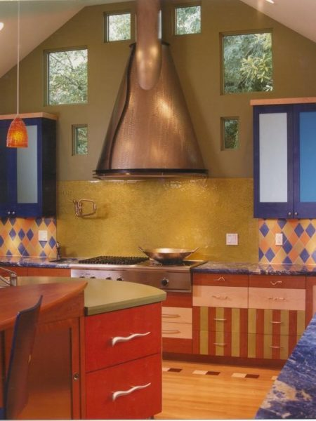 The Bold Colored Kitchen