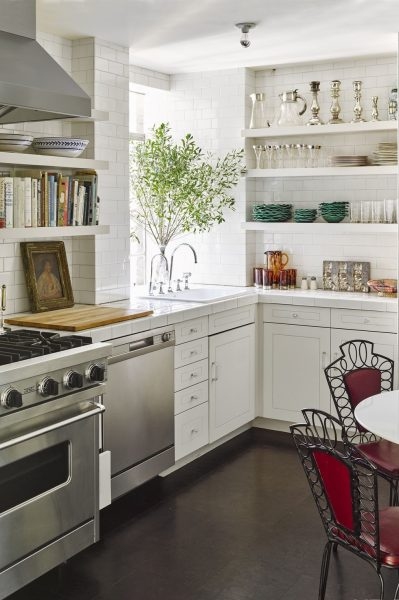 Do you want to have more storage spaces in your kitchen to keep all the stuff? Well, if that's a yes then go for this simple kitchen that is full of shelves.