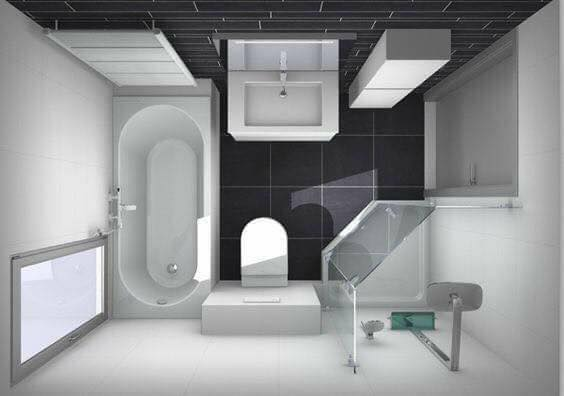 3D Layouts of the Bathroom (7)