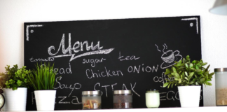 Menu Blackboard in kitchen decor