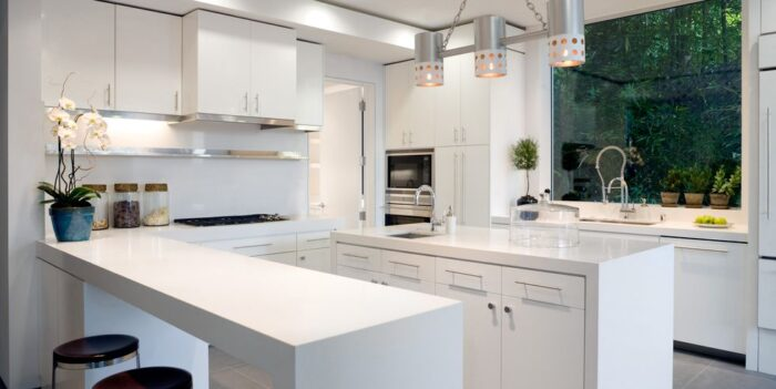Modern kitchen peninsula design