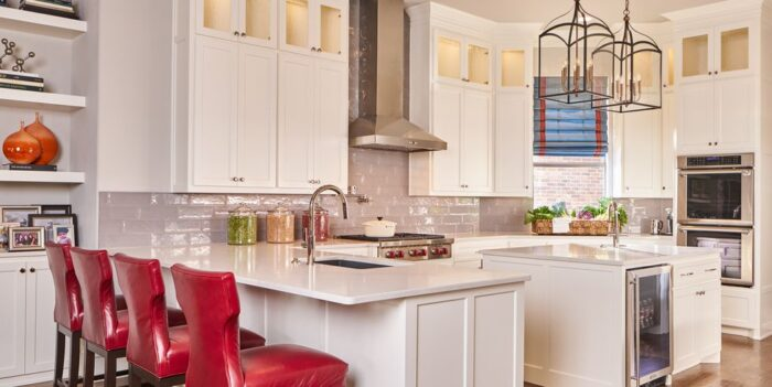 Airy Kitchen With Pops of Red