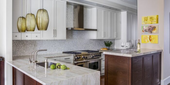 Champagne-Toned Urban Kitchen