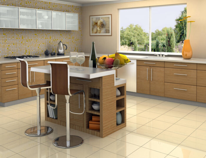 Multi-level kitchen Island