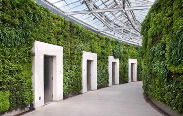 incredible buildings with green wall architecture