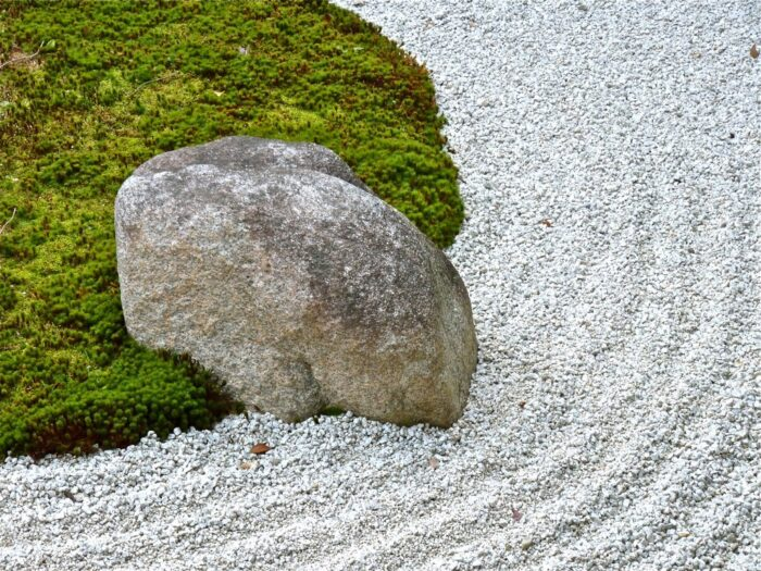 Sand and rock garden